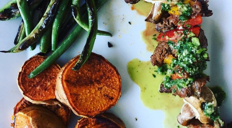 Tasty Tuesday – Steak Fajita Skewers with Cilantro Chimichurri