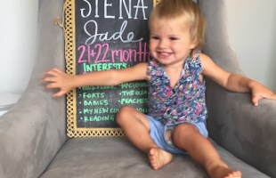 Dear Siena – 21 & 22 Months Old