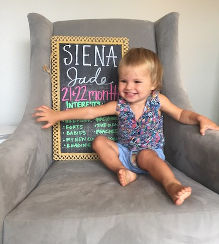 Dear Siena – 21 & 22 Months Old