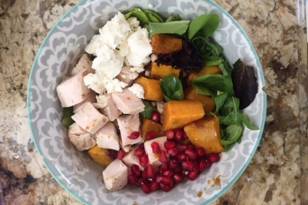 Tasty Tuesday – Butternut Squash, Pomegranate and Goat Cheese Salad