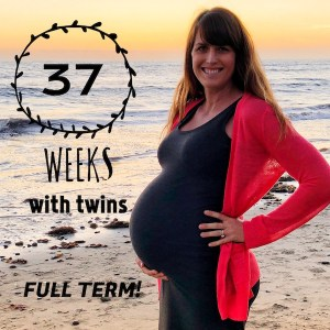 37 weeks pregnant with twins