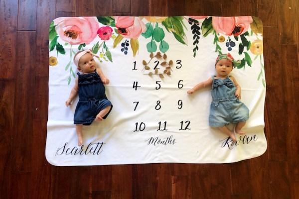 Dear Rowan & Scarlett – 2 Month Old Twins