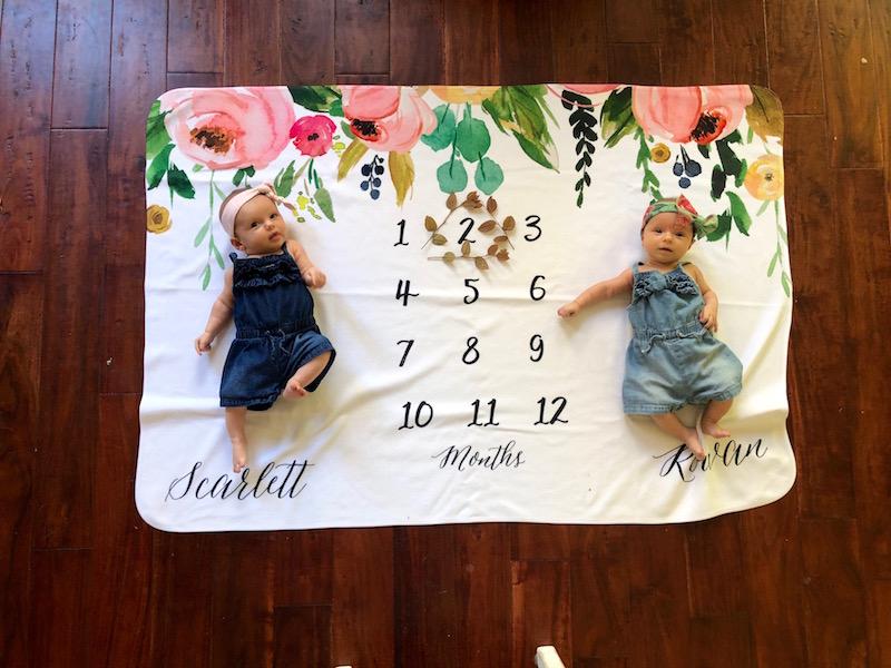 twin milestone blanket