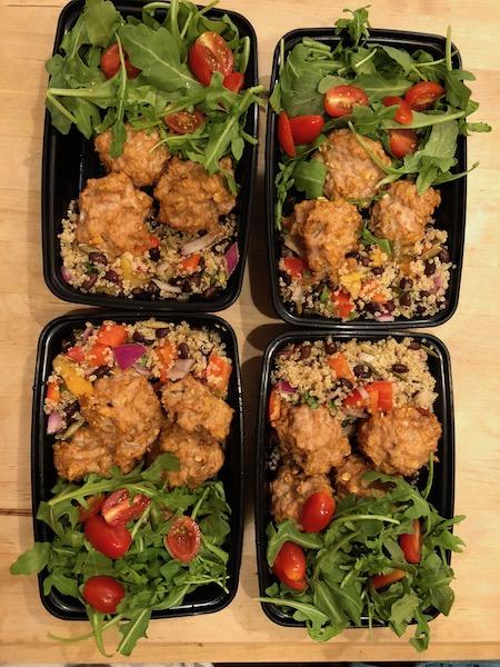 Meal Prep quinoa salad bowls