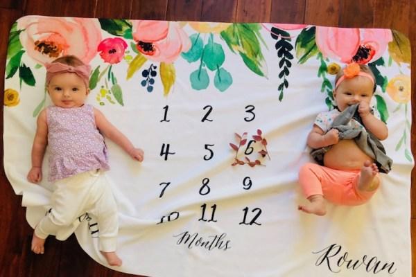 Dear Rowan & Scarlett – 6 Month Old Twins