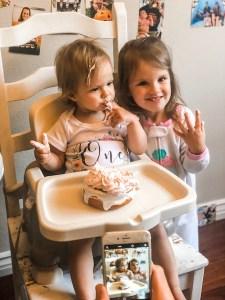 twin birthday smash cake