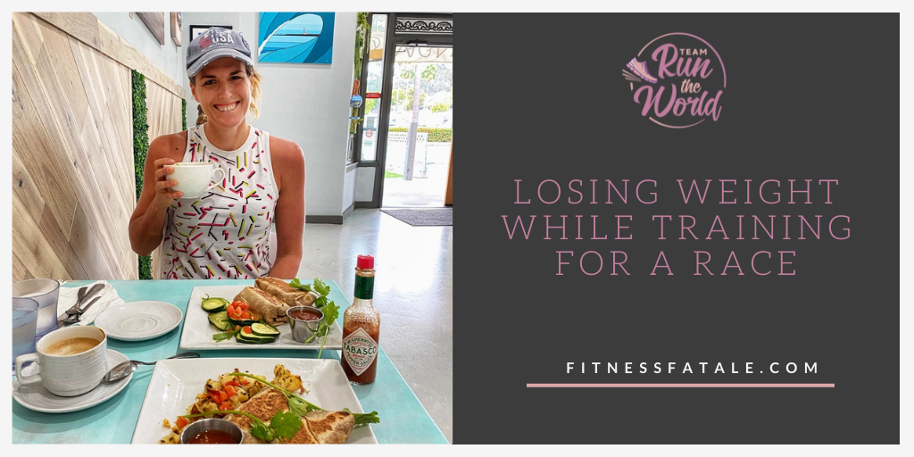 How do I lose weight WHILE training for a race? Losing weight without sacrificing performance: It's not always easy but it CAN be done.