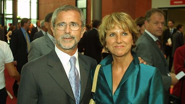 Gerd Muller with wife