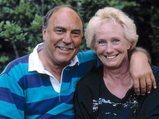 Jimmy Greaves with his wife Irene Barden
