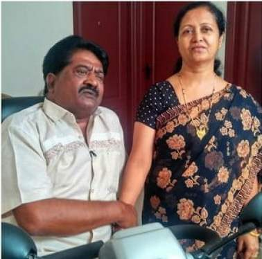 Sathyajith with his wife Sophia Begum