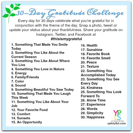 30-Day Gratitude Challenge | Institute for Life Coach Training