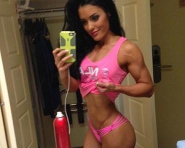 fitness girl selfie