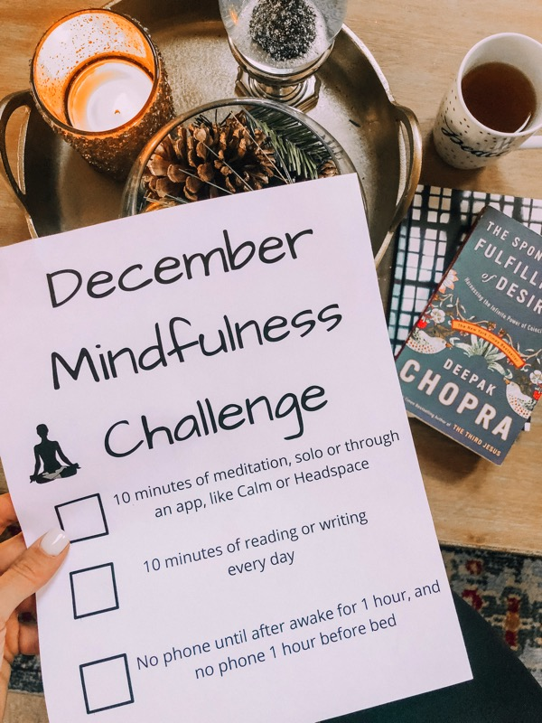 December mindfulness challenge