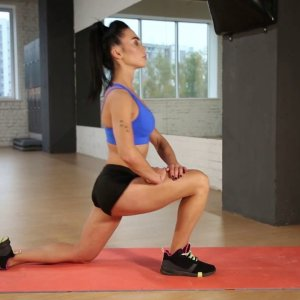 Kneeling Hip Flexor Stretch - Legs Exercise
