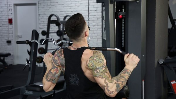 Seated Lat Pulldown Exercise