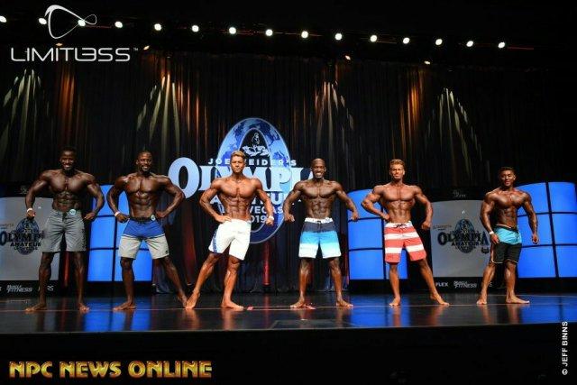 Men's physique overall comparaison Olympia amateur Las Vegas 2019