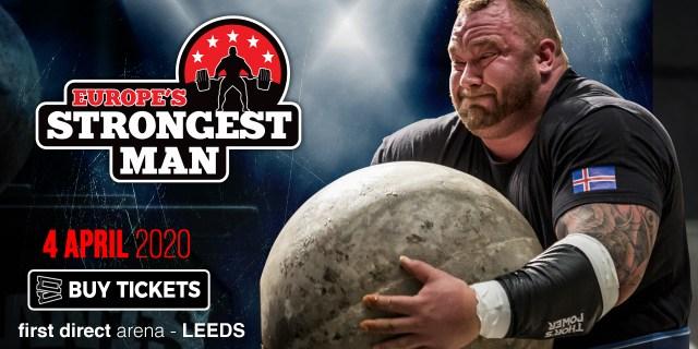 Affiche pour la compétition Europe's Strongest Man 2020