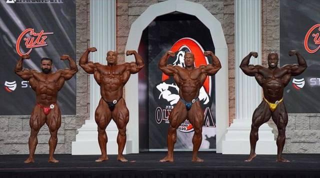 4 des 5 finalistes de la catégorie Men's Open Bodybuilding Olympia 2020