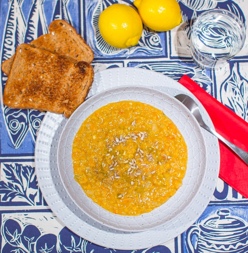 Fitness On Toast Faya Lentil Soup Taste Healthy Workout Recipe Natural Vegetable Protein Idea Diet Health Recipe Nutrition Lighter Home Made-3