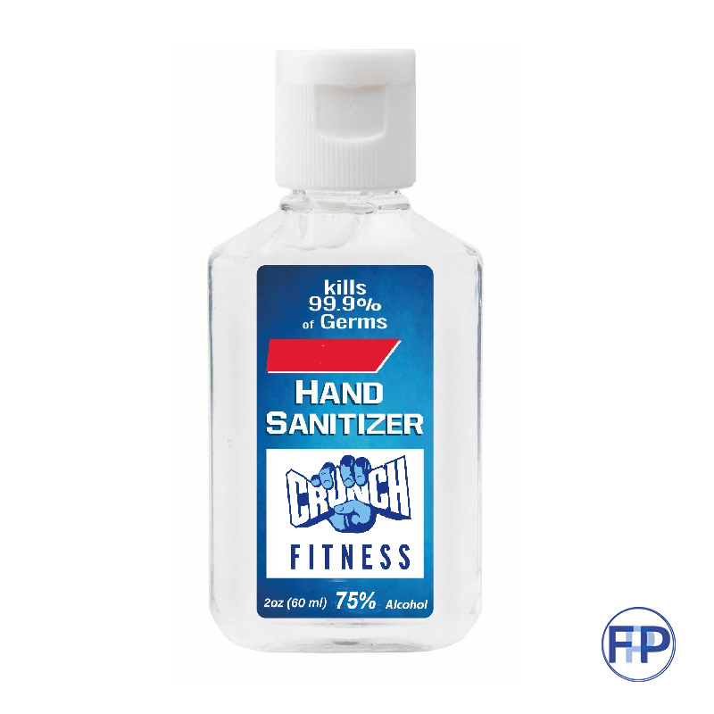 2 ounce gel formula 75% alcohol hand sanitizer fitness promotional product