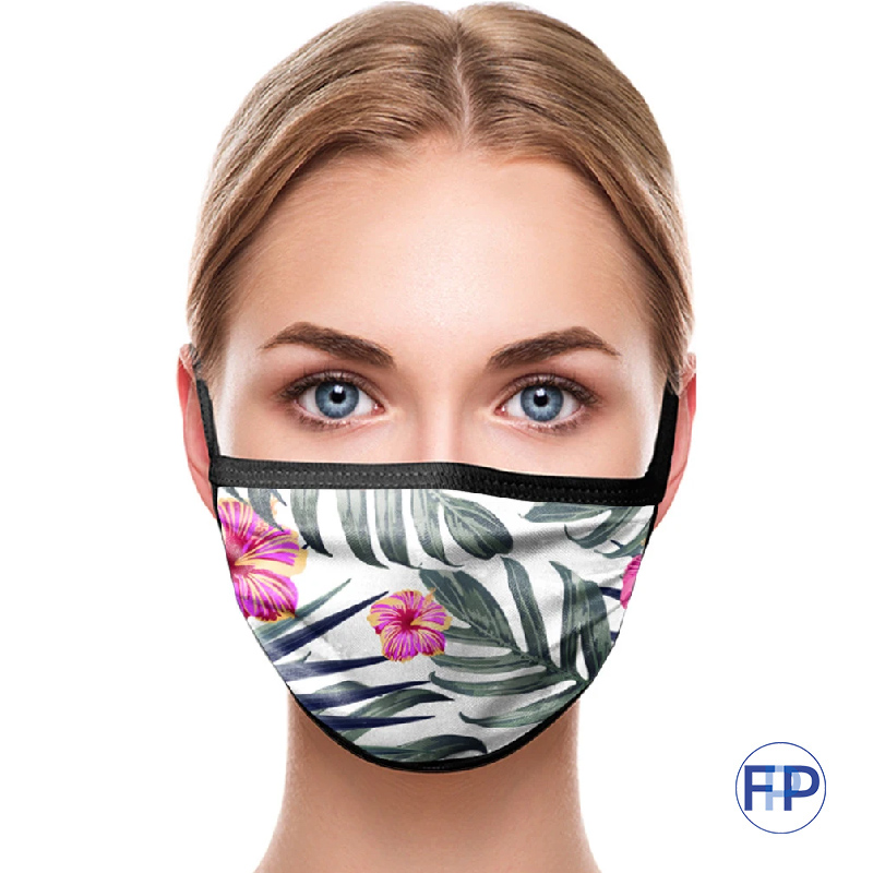 sublimated full color custom 3 ply cotton virus masks for gyms and fitness promotional product