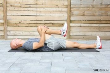Demo of hamstring and low back stretch