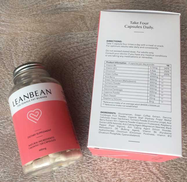 Leanbean ingredients label British formula