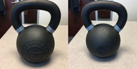 Kettlebell Reviews 2017 - Rep Fitness Kettlebells Review 40kg Kettlebell Front and Back