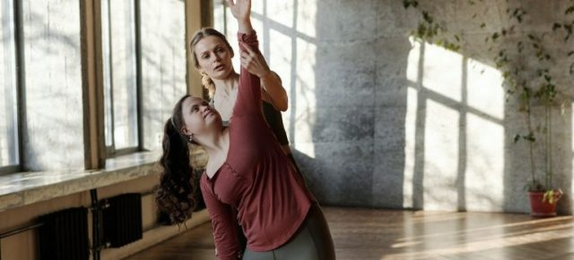 two women, yoga, fitness, training