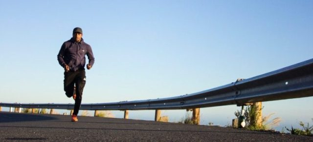 A picture of a man running