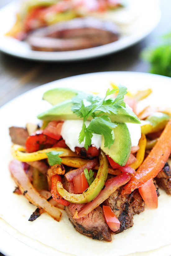 Grilled Steak Fajitas - Two Peas and their Pod