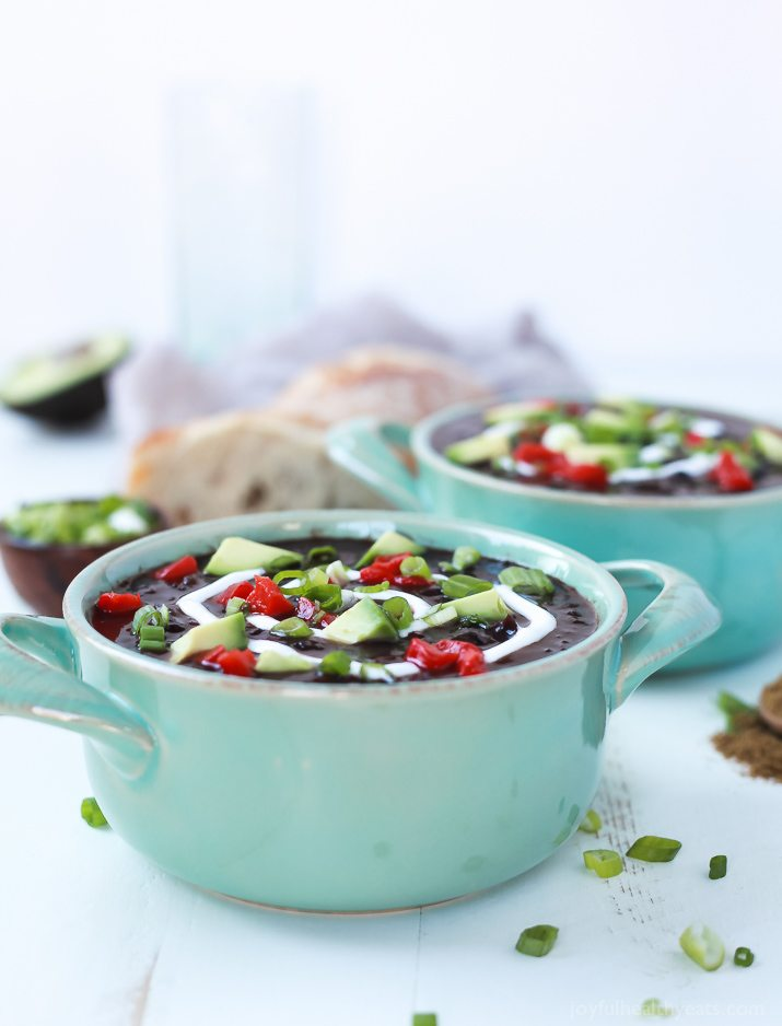 Crockpot Black Bean Soup - Joyful Healthy Eats