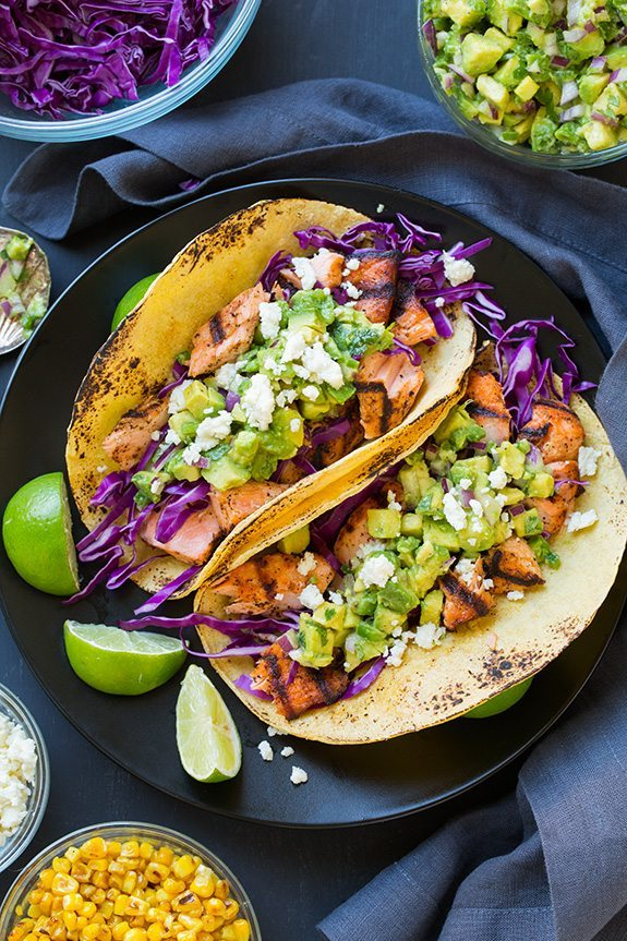 salmon-tacos-with-avocado-salsa - Fitness with PJ Blog