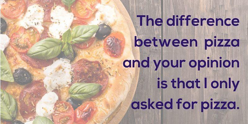 Funny pizza quote