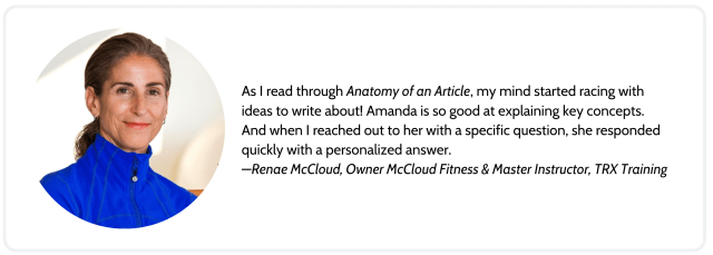 Fitness Writing: Anatomy of an Article - fitnesswriter