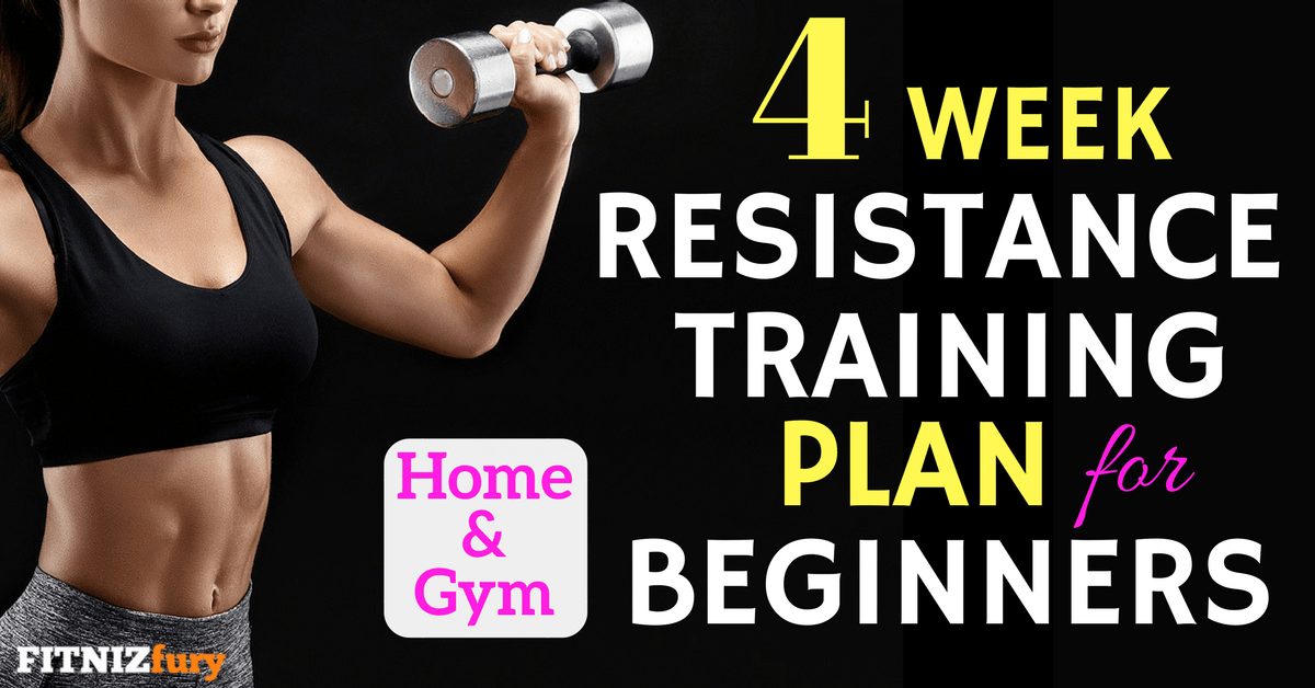 4 Week Strength Training Plan for Beginners  Home or Gym