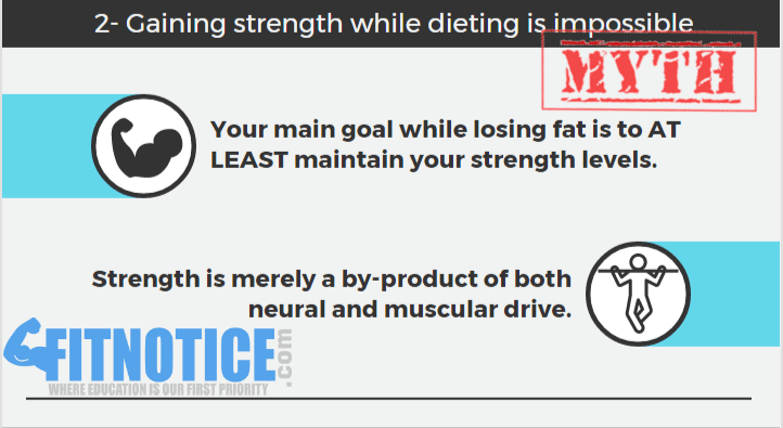 gain strength while dieting