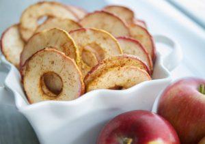 cinnamon apple chips closeup fall recipes