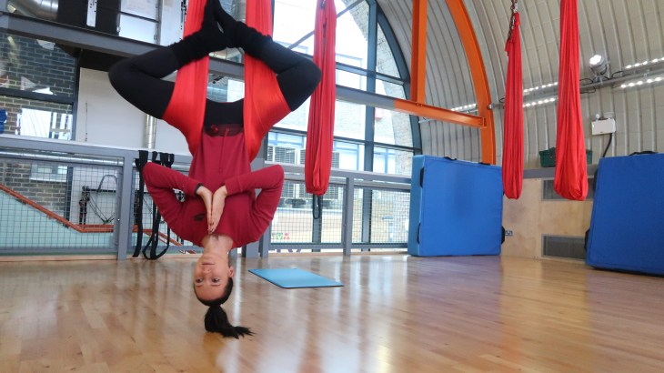 Top 10 unconventional fitness experiences - Aerial Yoga