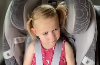 Picture of a girl in car seat
