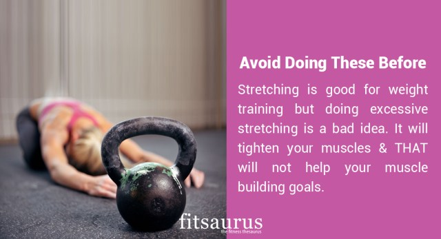 Avoid Doing These Before Your Workout
