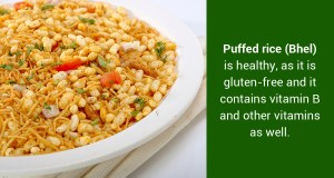 How many calories are there in Bhel Puri & does it have any health benefits?