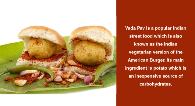 How many calories are there in a Vada Pav & does it have any health benefits?