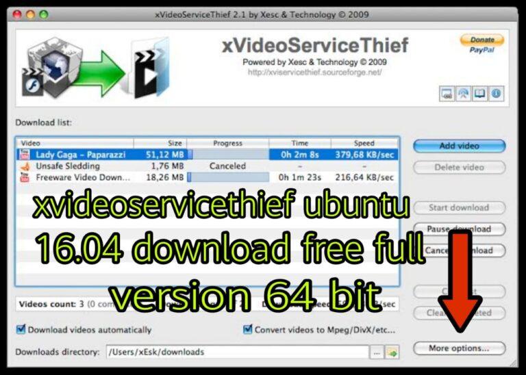 XVideoServiceThief Ubuntu Software Download 2