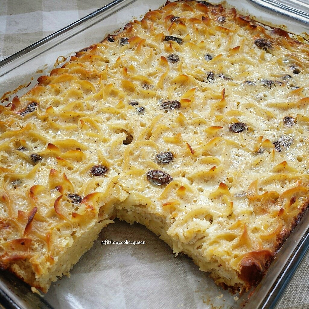 Easy sweet savory noodle kugel fit slow cooker queen forumfinder Image collections
