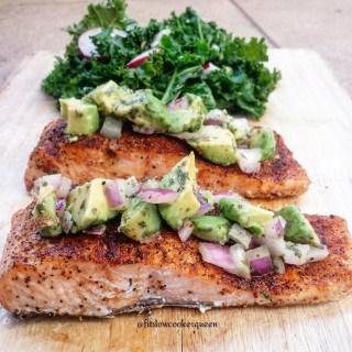 Salmon w/Avocado Salsa