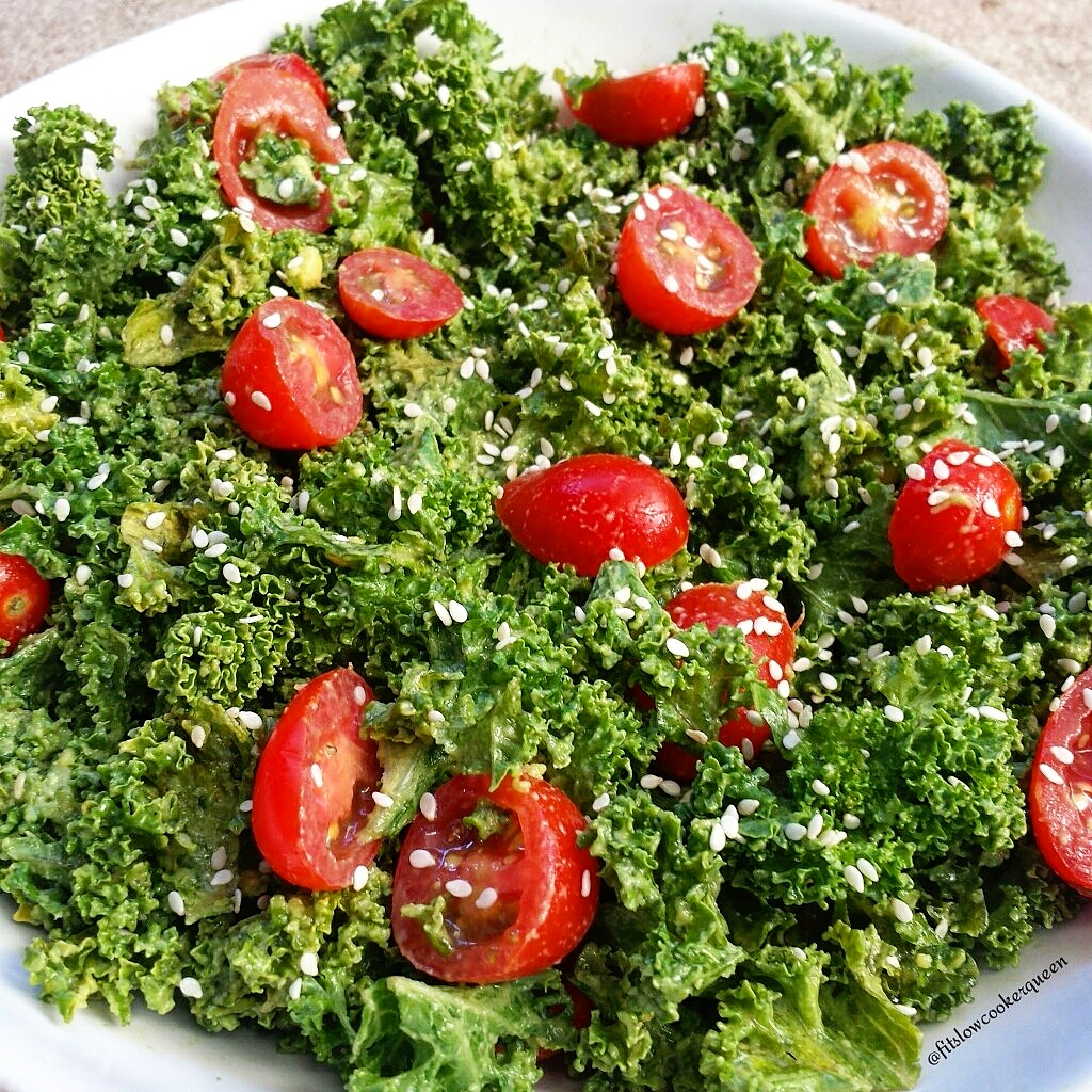 Raw Avocado Kale Salad