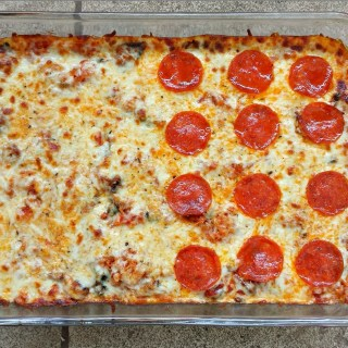 Low Carb Spaghetti Squash Pizza Casserole