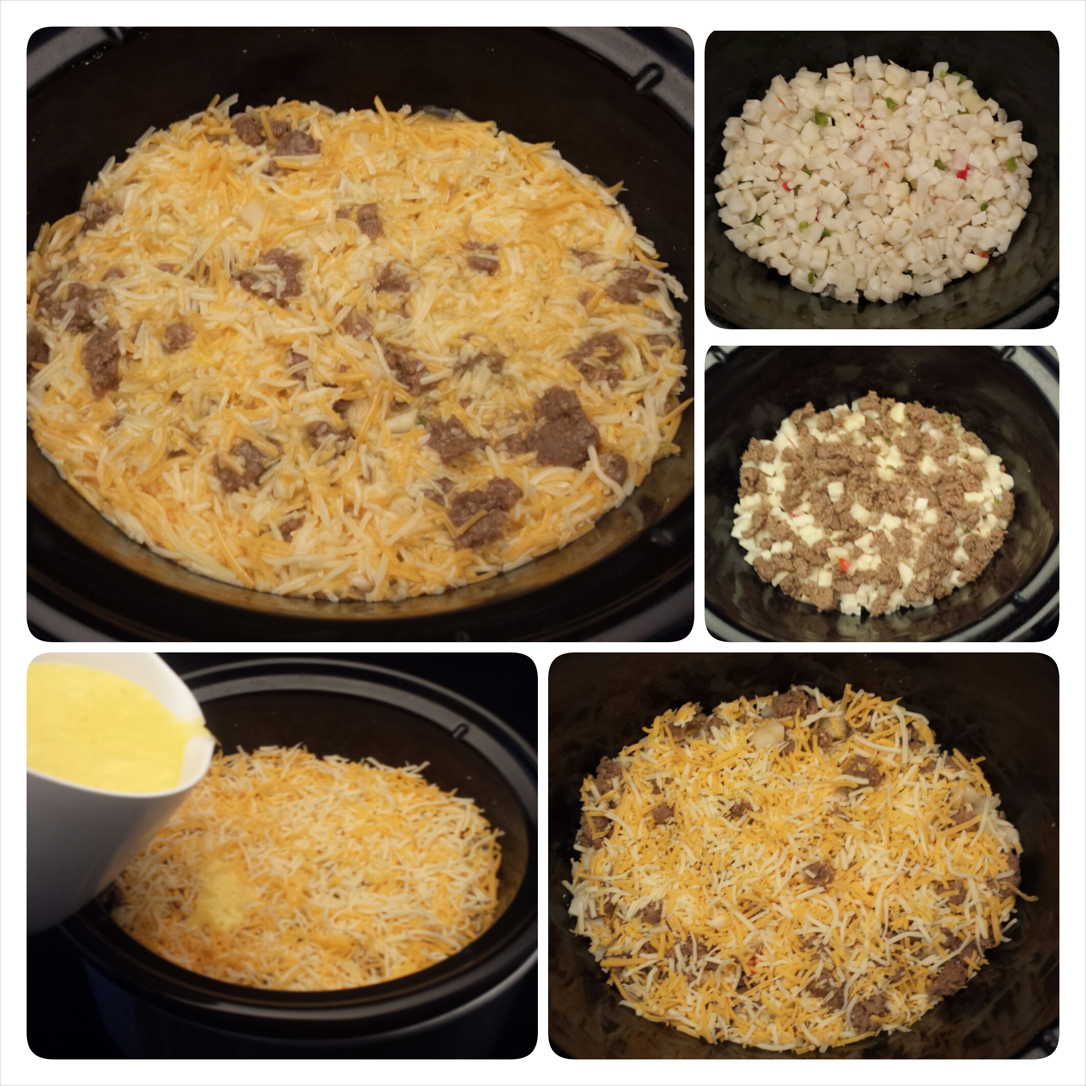 Slow Cooker Sausage & Cheese Breakfast Casserole