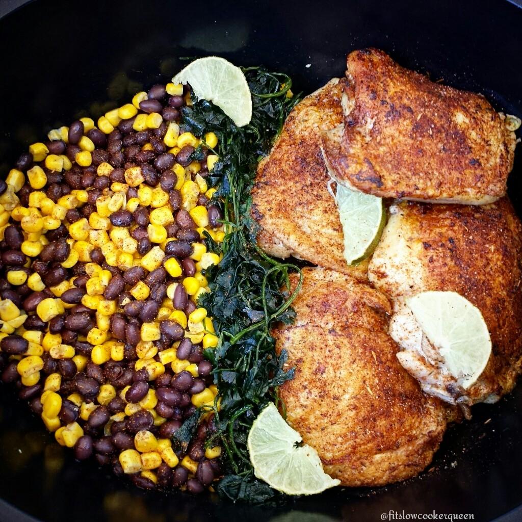 5-Ingredient Slow Cooker Easy Jerk Chicken